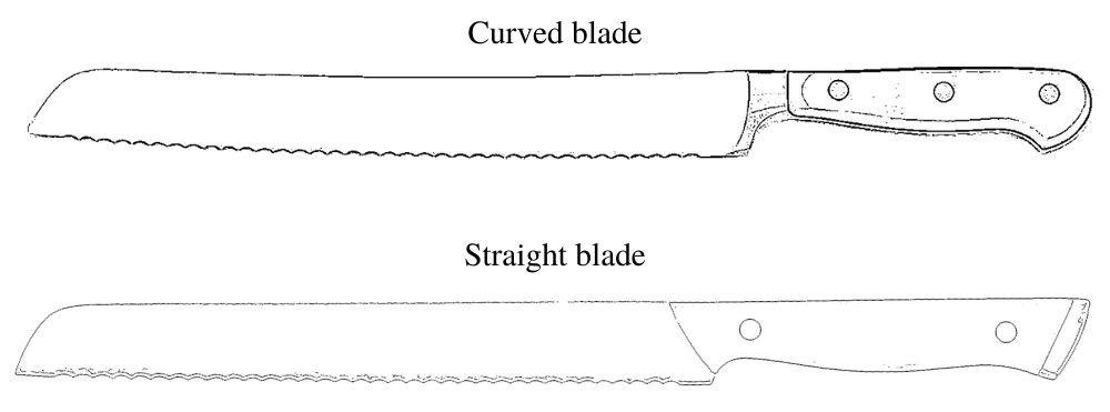Curved blade vs. straight blade